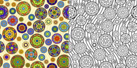 japanese art: Two Temari Ball Patterns Illustration