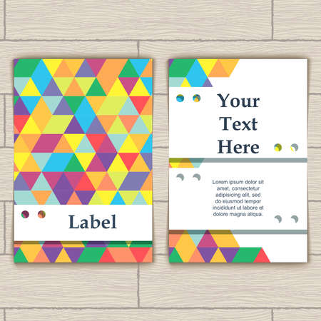 formalization: Card with Pattern of Colorful Lozenges