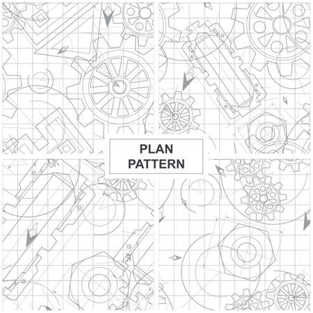 Four Patterns of Circuits, Mechanisms and Gears