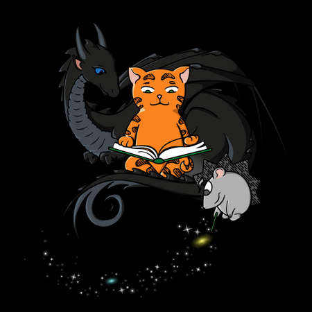continuum: Dragon, Cat and Hedgehog creating the Universe