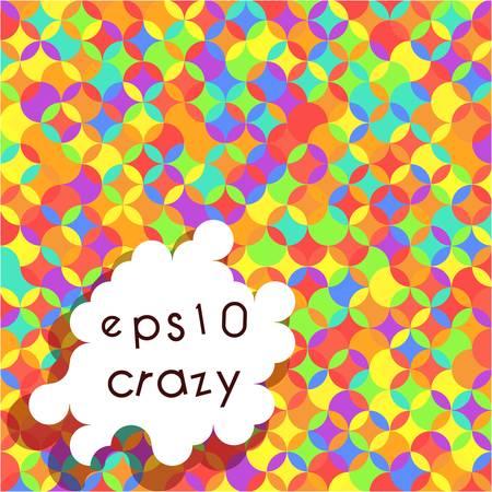 crannied: Crazy bright multicolored pattern of circle segments