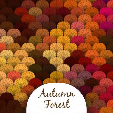 com escamas: Textura escamosa Floresta do outono em diferentes tons de vermelho