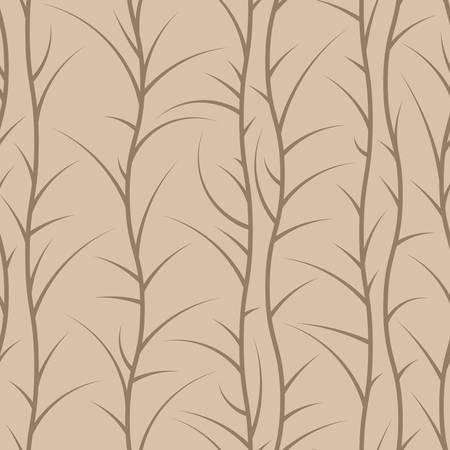 veining: Seamless brown floral pattern of spiny branches