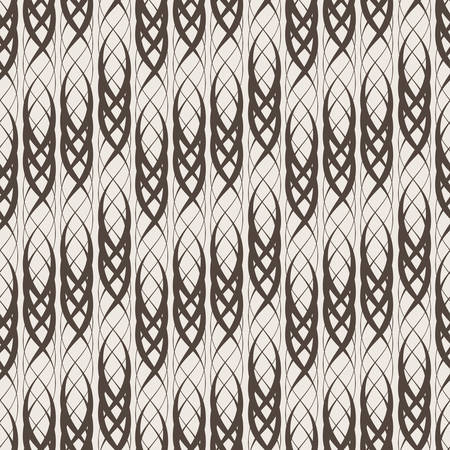 thickness: Seamless vector abstract pattern of intertwined lines of different thickness Illustration