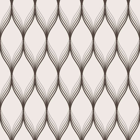 Seamless vector abstract pattern of similar waves tulips with a smooth transition