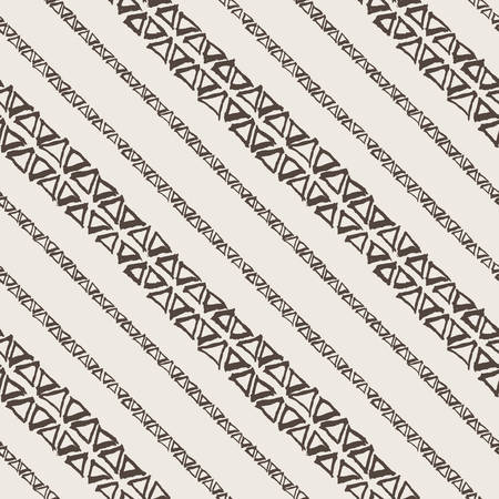 Vector seamless pattern of triangles drawn by hand with a brush and ink Vector