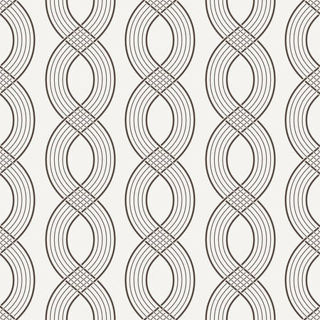 contrasting: Vector seamless pattern of interwoven ropes in contrasting colors Illustration