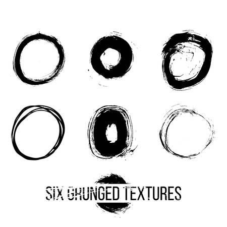 splattered: Set of dirty scratched splattered elements for design Illustration