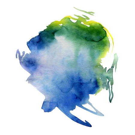 blotch: Colorful watercolor stain on the paper in high resolution
