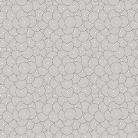 superimposed: Vector seamless pattern of concentric circles superimposed randomly Illustration