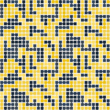 randomly: Vector seamless pattern of randomly connected squares
