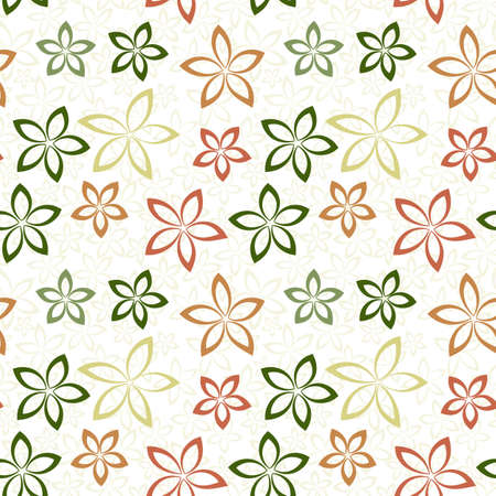 Intricate colorful vector pattern of flowers with a touch of retro Stock Illustratie