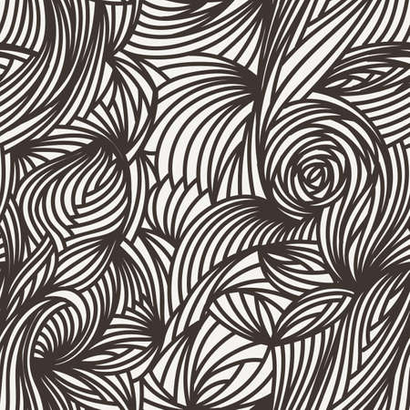 luxuriate: Vector seamless abstract pattern of curled lines