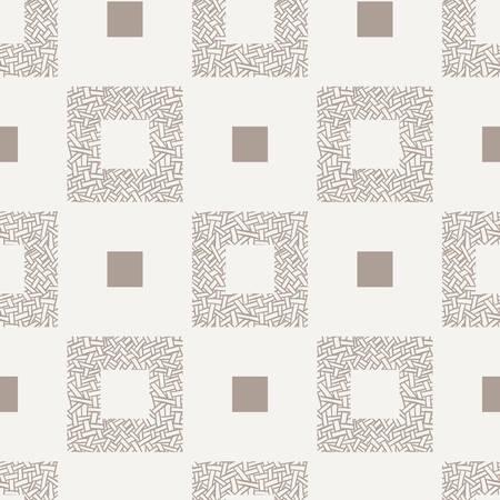 Vector seamless pattern of randomly intertwined ribbons