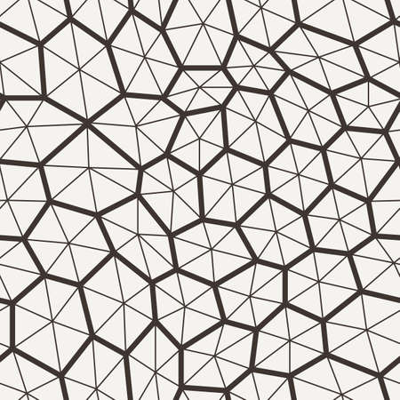 thickness: Vector seamless pattern in a grid of polygons with lines of different thickness