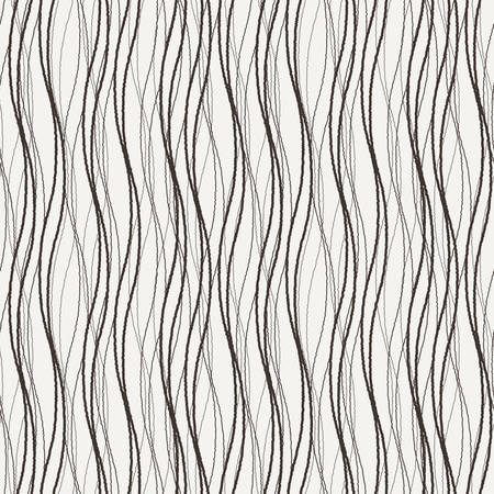 Vector seamless pattern of wavy lines connected strokes 向量圖像