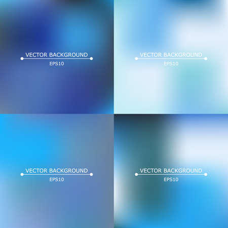 Set of four bright multicolored blurry backgrounds