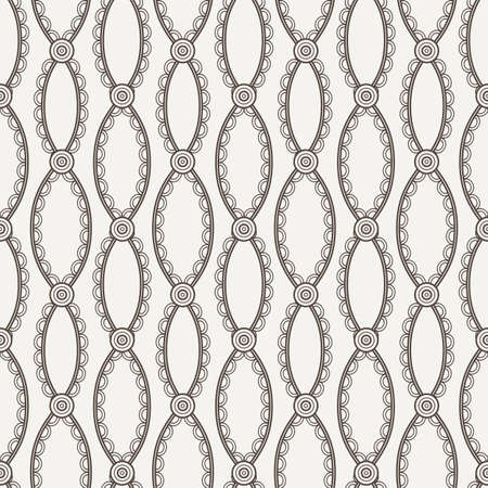 laced: Vector seamless pattern of wavy laced lines with knots Illustration
