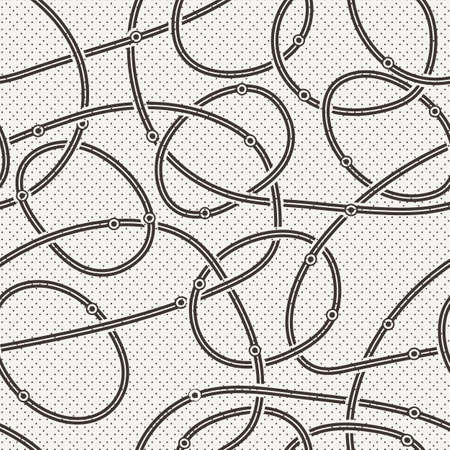 thickness: Seamless vector abstract pattern of curled lines of different thickness Illustration