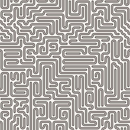Vector seamless pattern in the form of a labyrinth or a computer motherboard Vector