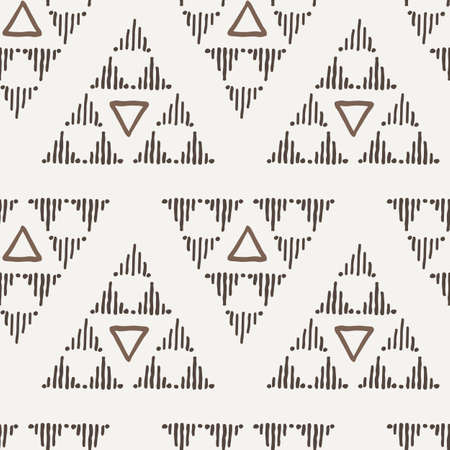Vector seamless texture of hand-painted triangles Vector