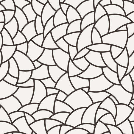 Vector seamless mosaic pattern of polygonal curved elements Illustration