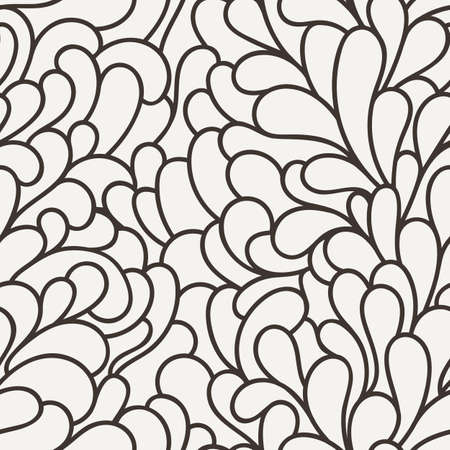 Vector seamless pattern of organic elements similar to rabbit ears