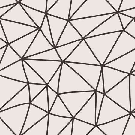Vector seamless pattern of polygonal lines in a network Illustration