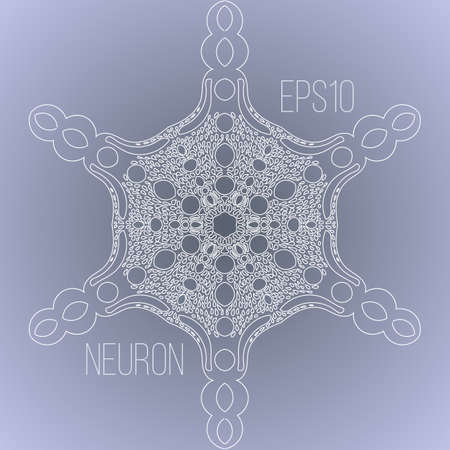 dendrites: Vector background with the image of a neuron