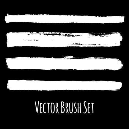 contrasting: Set of four vector grunge contrasting brushes Illustration