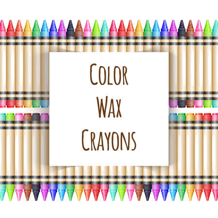 Vector colorful background with fence from wax pencils Vectores