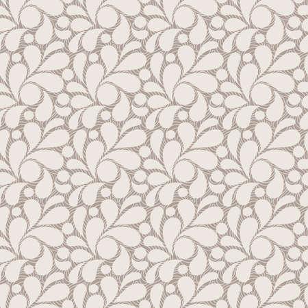 Vector naadloze patroon van gestileerde bladeren en bloemblaadjes