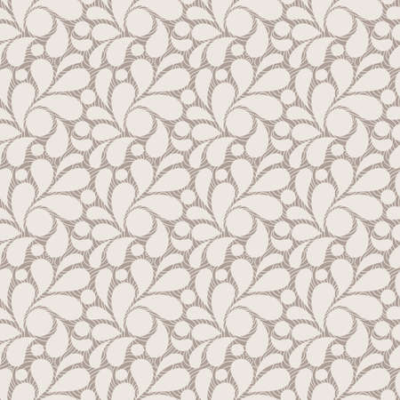 repeating pattern: Vector seamless pattern of stylized leaves and petals Illustration