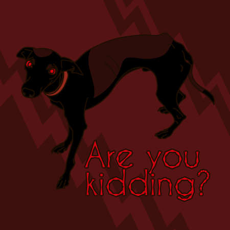 leggy: Vector Image With Angry Italian Greyhound Illustration