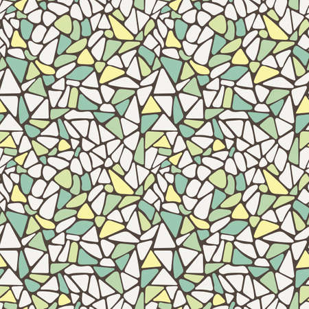 Vector seamless pattern in the form of a variety of tiles paved surface Illustration