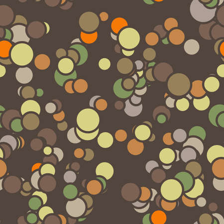 contrasting: Vector seamless pattern of colored circles with contours in contrasting colors