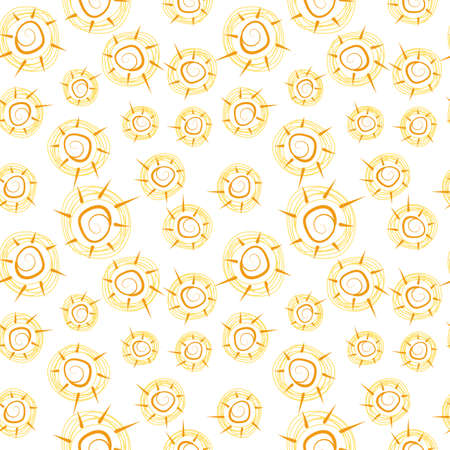 suns: Vector seamless pattern with suns