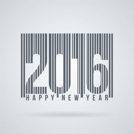 barcode: Vector label to the new 2016 as barcode Illustration