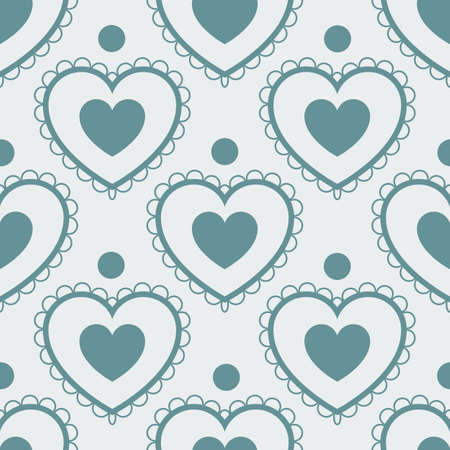 gift wrapping: Fun seamless love heart background. Great for baby announcement, Valentines Day, Mothers Day, Easter, wedding, scrapbook, gift wrapping paper, textiles. Illustration