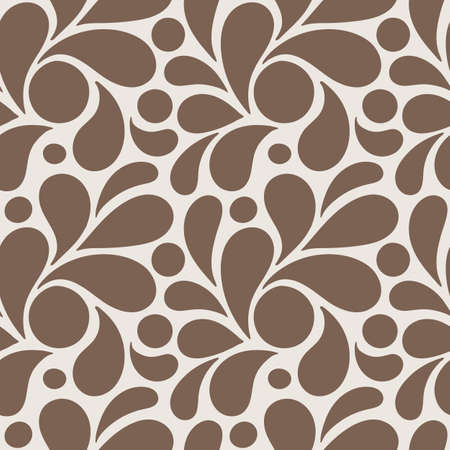 Vector seamless pattern of stylized leaves and petals 向量圖像