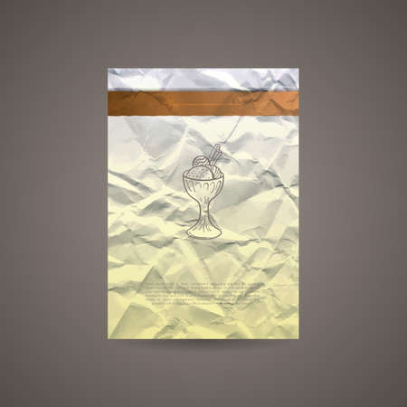 crumpled: Vector Design Template for Banners, Cards, Flyers, Placards, Booklets and Posters. Crumpled Paper Backgrounds.