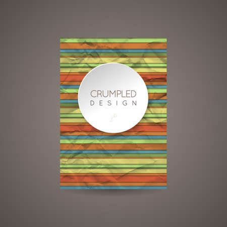 Vector Design Template for Banners, Cards, Flyers, Placards, Booklets and Posters. Crumpled Paper Backgrounds.