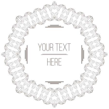 ornate frame: Vector elegant, filigree frame with space for text Illustration
