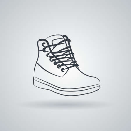 lacing: Icon depicting high boots with lacing Illustration