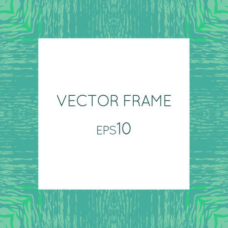 certificate border: Vector frame with a texture of water