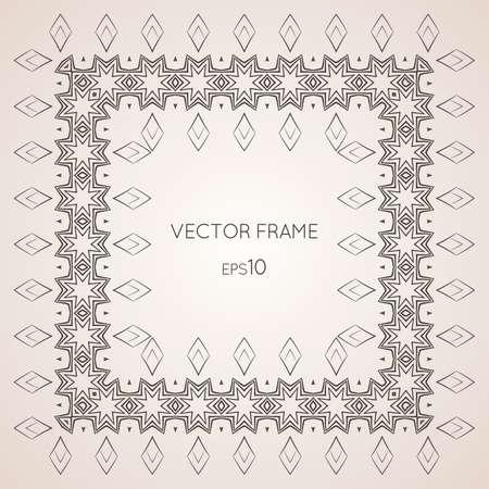 photo frame corner: Intricate vector frame Illustration