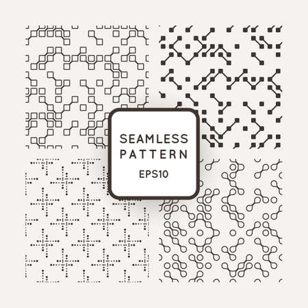 mishmash: A set of four vector patterns in monochrome