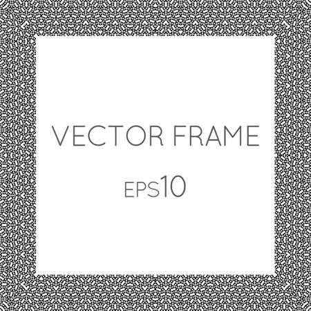 repujado: Vector cuadrado marco de la flor de texto, im�genes, monogramas, marcos de fotos.