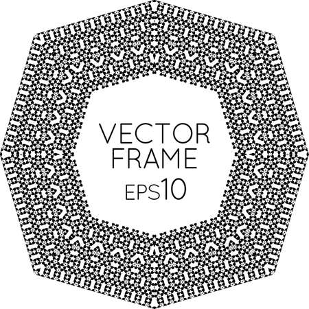 workpiece: Vector square flower frame for text, images, monograms, photo frames.