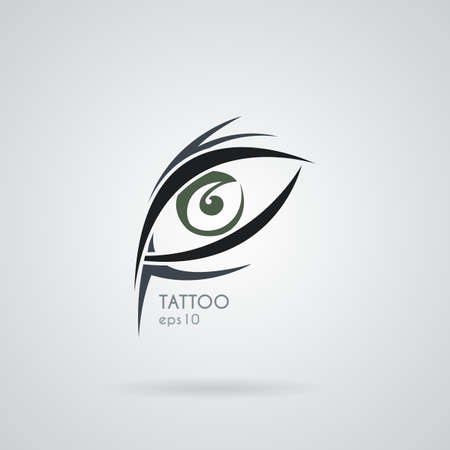 artful: Vector eye icon in the style of tattoos